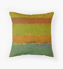 Teal and Chartreuse Layers Throw Pillow
