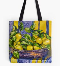 'Provence lemons in a copper bowl'. Oil on canvas.  Tote Bag
