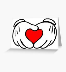 Love fingers Greeting Card