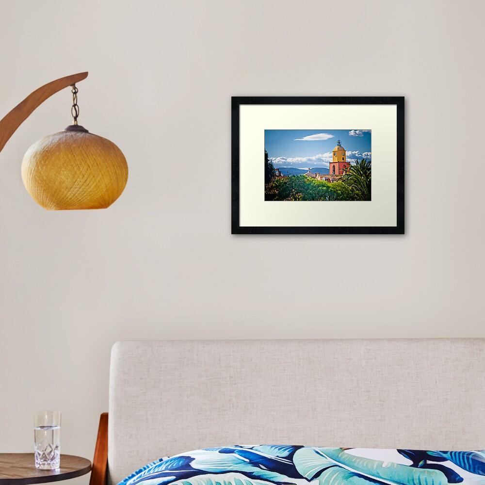 Le clocher de saint tropez Framed Art Print