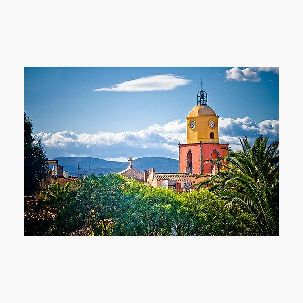 Le clocher de saint tropez Photographic Print