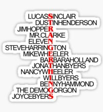 List of Characters - Stranger Things Sticker