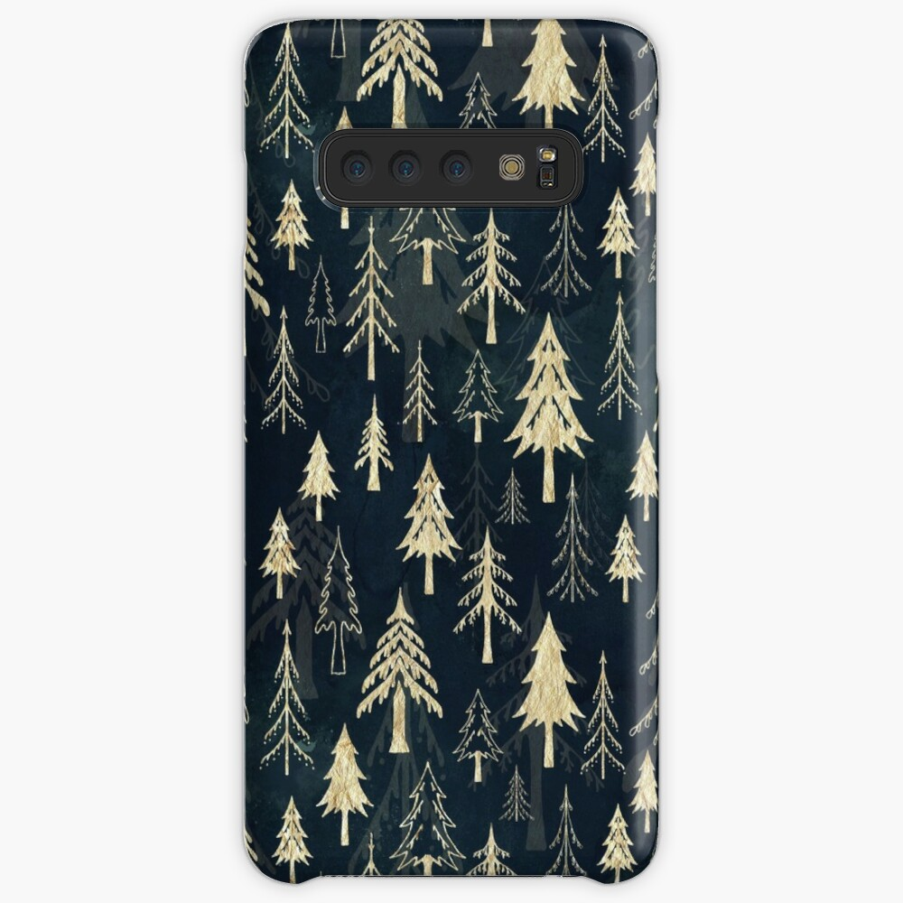 Christmas tree mix in gold Case & Skin for Samsung Galaxy