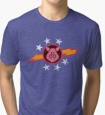 Vintage Pigs in Space Tri-blend T-Shirt