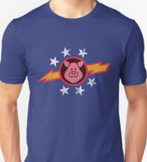 Vintage Pigs in Space Unisex T-Shirt