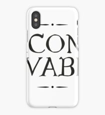 Inconceivable Floral and Scroll Quote Graphic iPhone Case/Skin