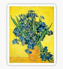 Vincent Van Gogh - Vase with Irises. Sticker