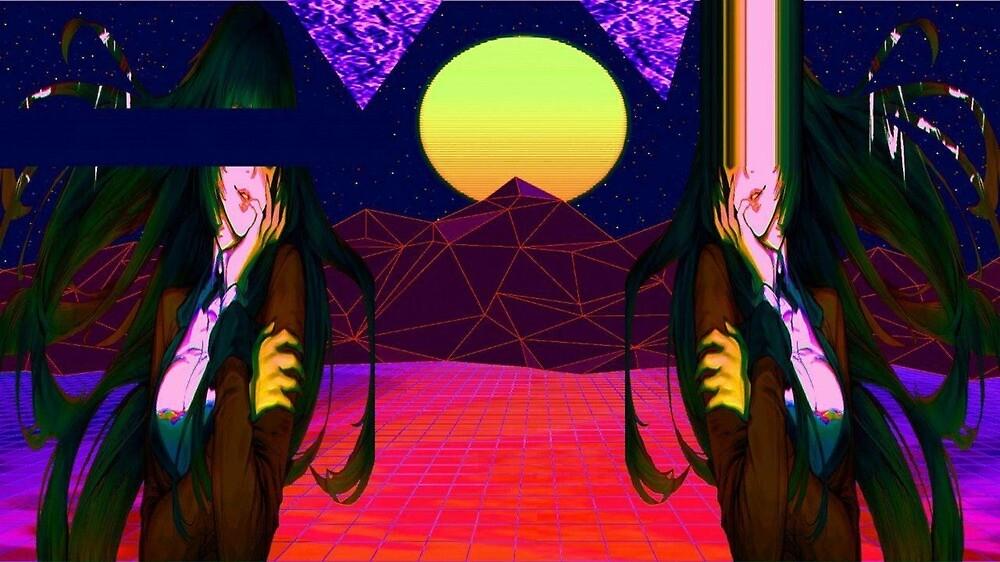 Jabami Yumeko Vaporwave Image by C9Zoe