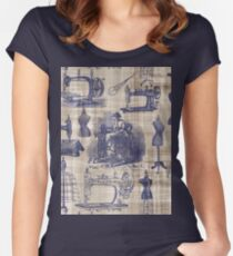 Vintage Sewing Toile Fitted Scoop T-Shirt
