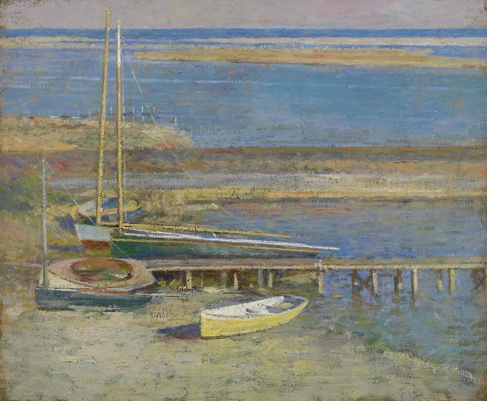 Boats at a Landing by Theodore Robinson by classicartcache