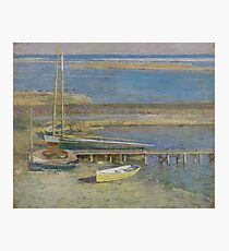 Boats at a Landing by Theodore Robinson Photographic Print