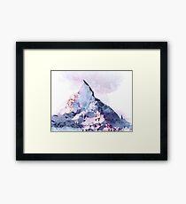 The Crystal Peak Framed Print