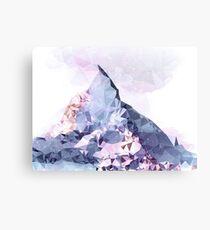 The Crystal Peak Metal Print