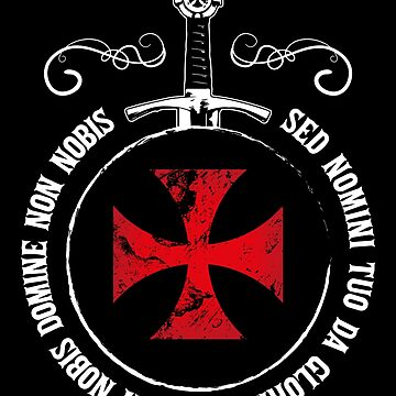 The Knights Templar T-Shirt Crusader Emblem Seal Motto Sword Symbol by stearman