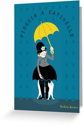 Under the rain (card) by Barbara Simone