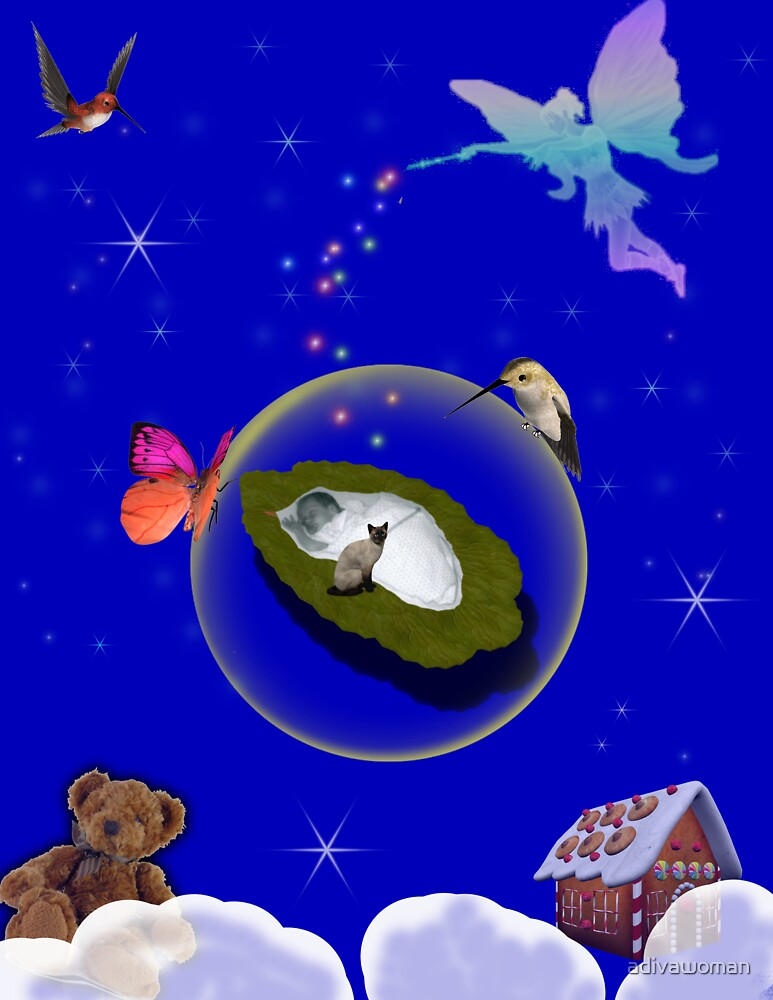 Goodnight Baby DIGITAL ART by adivawoman