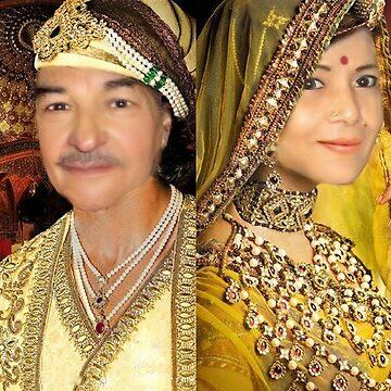 King Akbar & Wife Jodha - Lovers by Sunil