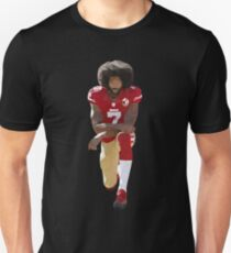 Colin Kaepernick Kneeling Low Poly Unisex T-Shirt