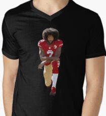 Colin Kaepernick Kneeling Low Poly Men's V-Neck T-Shirt