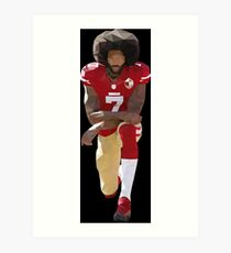 Colin Kaepernick Kneeling Low Poly Art Print