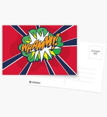 Comic Book Style WHAMM!! Postcards