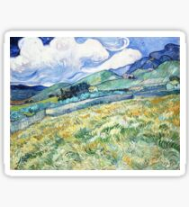 Vincent Van Gogh - Mountain Landscape behind the Saint Paul Hospital. Sticker
