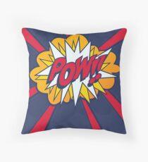 Comic Book Style POW! Throw Pillow