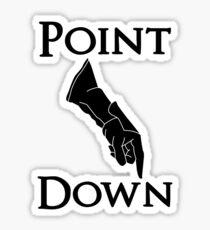 Point Down Sticker