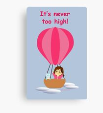 """""""Cathy and the Cat"""" travel in balloon text Canvas Print"""