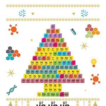 Oh Chemist Tree Merry Christmas Ugly Sweater Chemistry Tee by bucksworthy