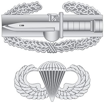Combat Action Badge and Airborne by jcmeyer