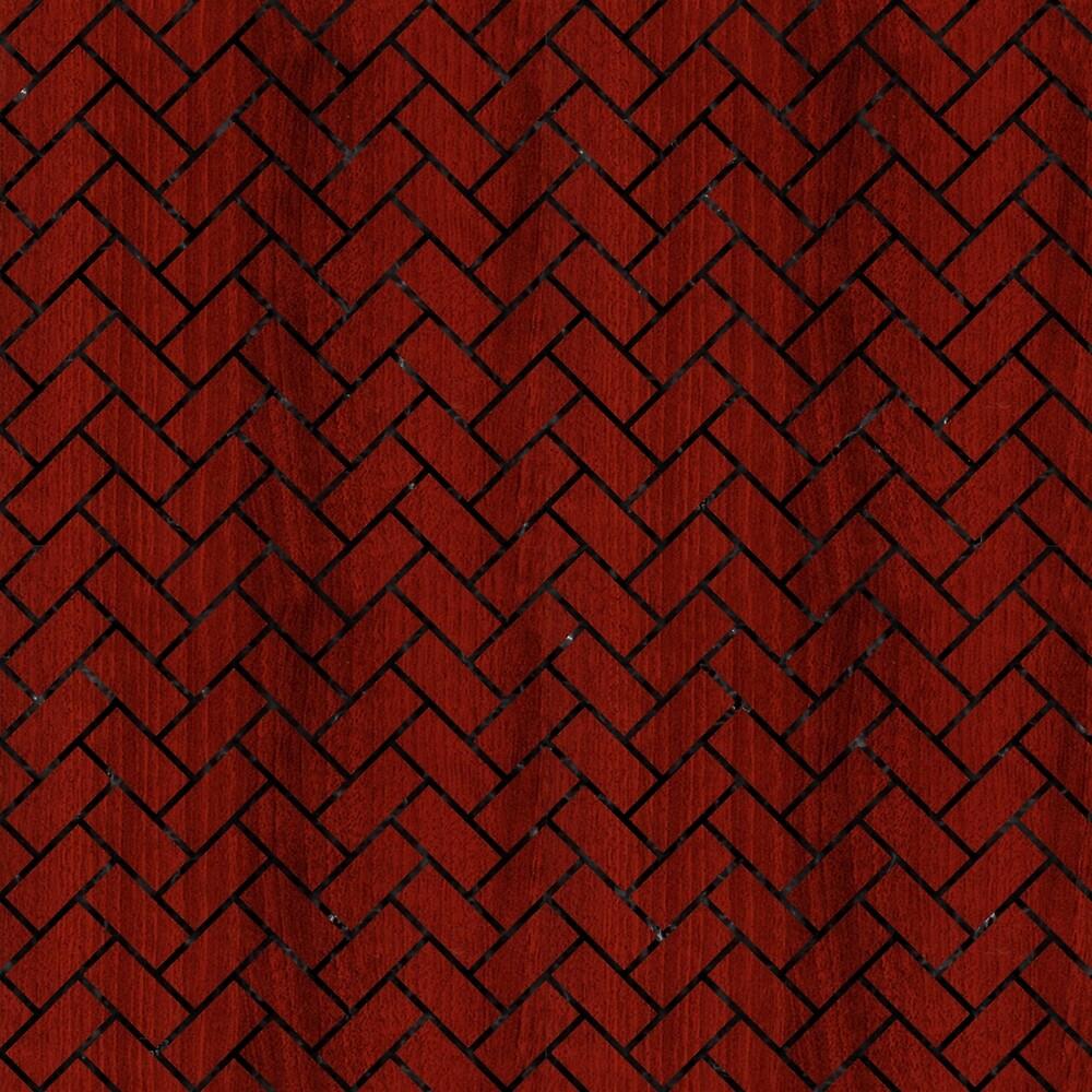 BRICK2 BLACK MARBLE & REDDISH-BROWN WOOD by johnhunternance