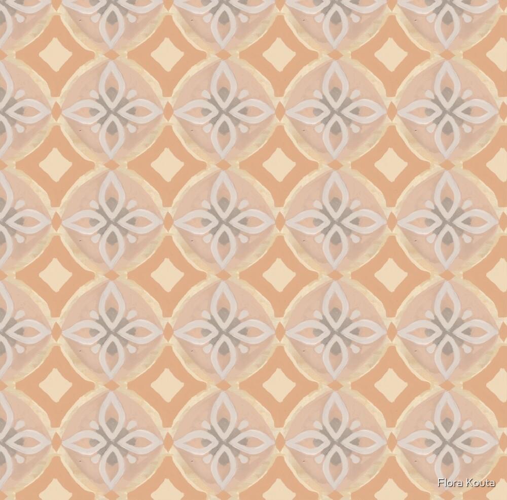 Terracotta and cream moroccan tile design by casafloradesign
