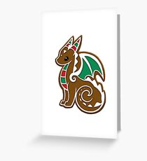 Lebkuchen-Drache Grußkarte