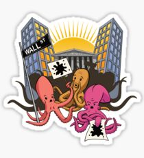 Octopi Wall Street Sticker