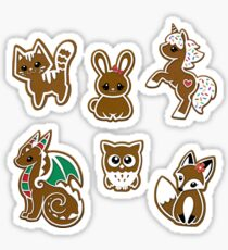 Gingerbread Beasties Sticker