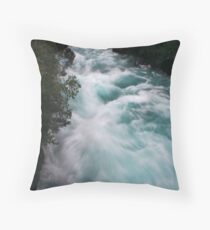 Blue Race Throw Pillow