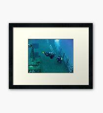 Wreck Explorer Framed Print