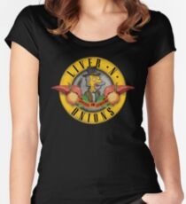 Liver N Onions  Women's Fitted Scoop T-Shirt