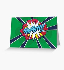 Comic Book Style SMASH! Greeting Card