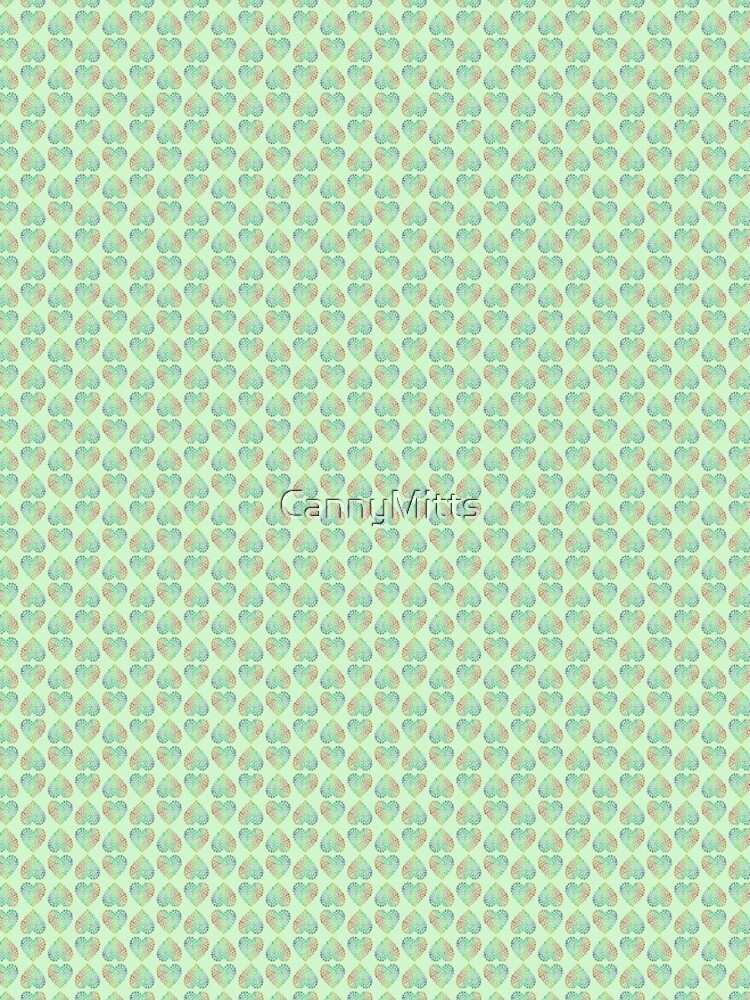 Paw Hearts Green by CannyMitts