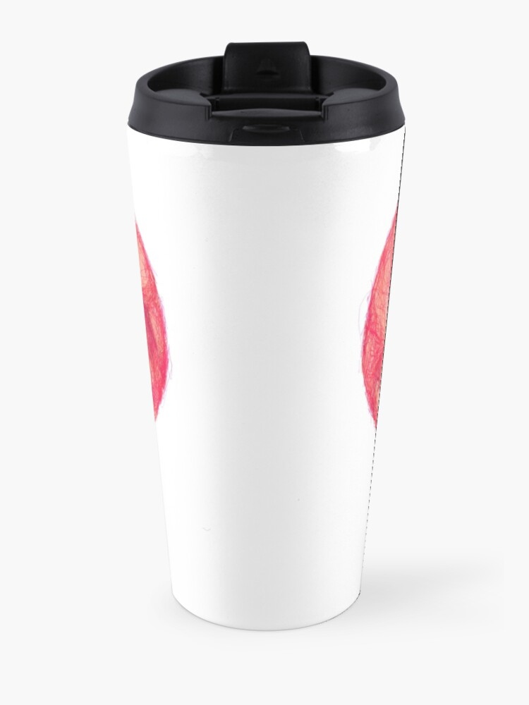 Alternate view of Kiss (White Background) Travel Mug