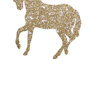 Gold Glitter Unicorn by Lilxpie