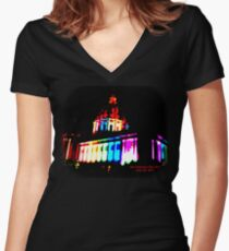 Pride Night, San Francisco City Hall - June 2015 Fitted V-Neck T-Shirt