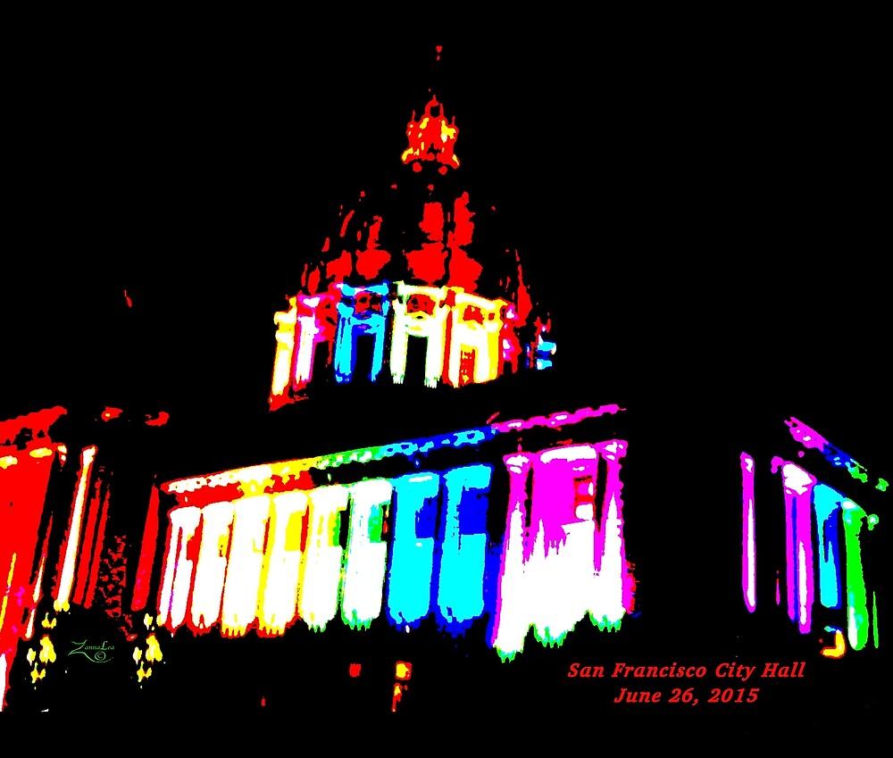 Pride Night, San Francisco City Hall - June 2015 by ZannaLea