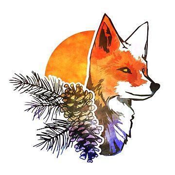 Pine Fox by Isondiel
