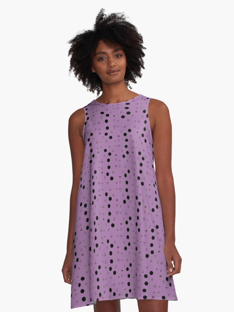 Expressionism Lilac A-Line Dress Front