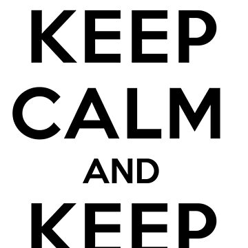 Keep Calm and Keep Flying (Black) by tonid