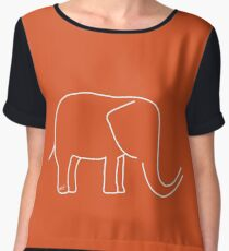 For the love of Elephants Women's Chiffon Top