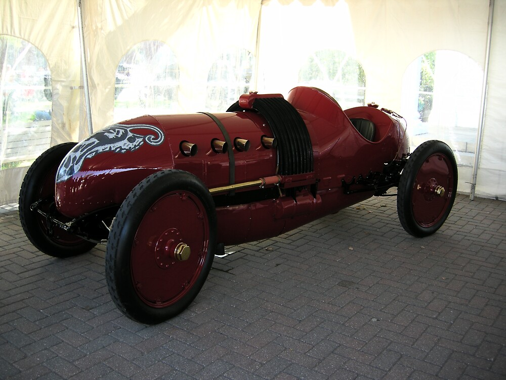 FIRE RED SPORTSCAR---PRE-1915 by dmsquare